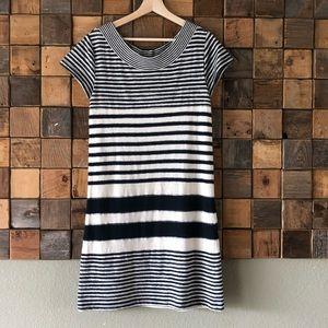 Maeve Haven Striped Shift Dress Blue/Cream Stripe